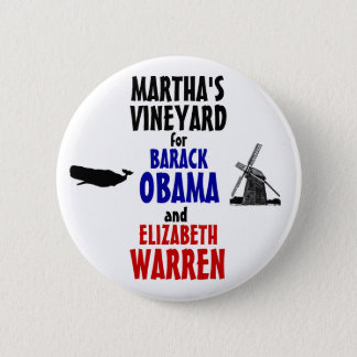 Badge Rond 5 Cm Martha's Vineyard pour Obama et terriers 2012