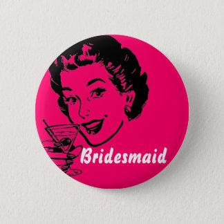 Badge Rond 5 Cm martinitoast, demoiselle d'honneur