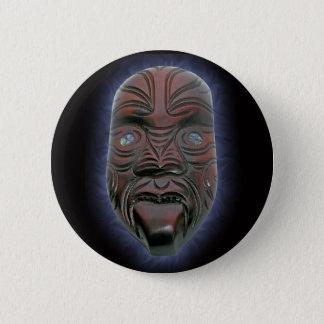 Badge Rond 5 Cm Masque découpé maori - bouton