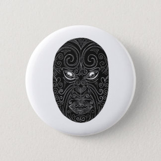 Badge Rond 5 Cm Masque maori Scratchboard