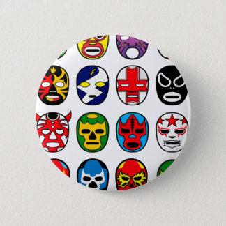 Badge Rond 5 Cm Masques de lutte mexicains de Lucha Libre Luchador