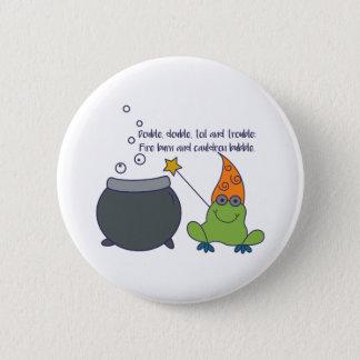 Badge Rond 5 Cm McBeth comique Halloween