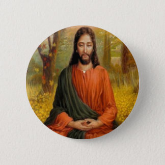 Badge Rond 5 Cm Méditation de Jésus-Christ