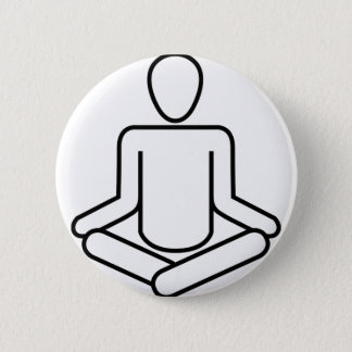 Badge Rond 5 Cm Méditation-logo