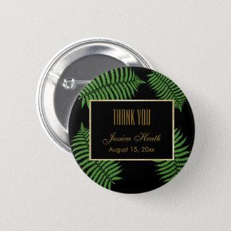 Badge Rond 5 Cm Merci chic élégant d'anniversaire de fougère