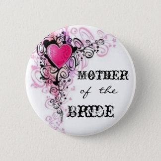 Badge Rond 5 Cm Mère de la jeune mariée