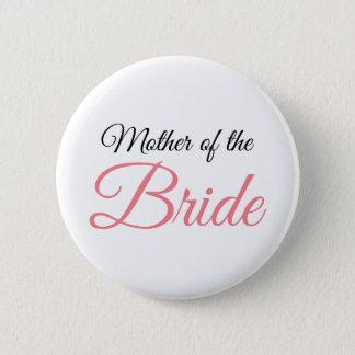 Badge Rond 5 Cm Mère de rose de manuscrit de jeune mariée