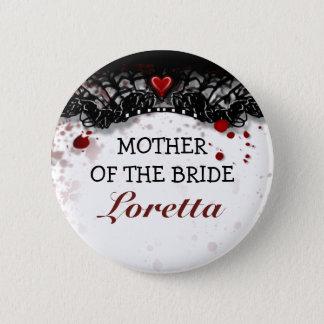 Badge Rond 5 Cm Mère du mariage de Halloween d'éclaboussure de