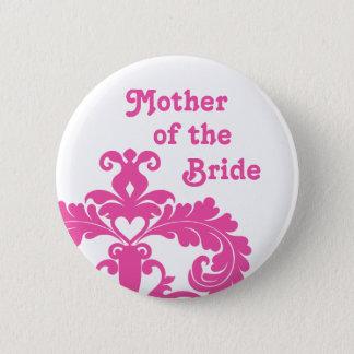 Badge Rond 5 Cm Mère du mariage de jeune mariée