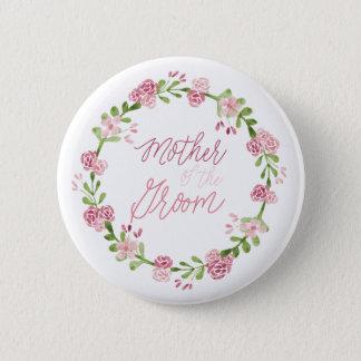 Badge Rond 5 Cm Mère du Pin de bouton de fleur de marié