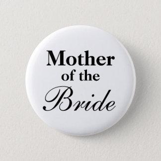 Badge Rond 5 Cm Mère élégante des boutons de jeune mariée