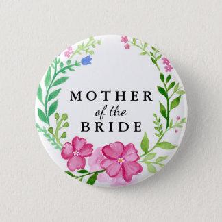 Badge Rond 5 Cm Mère florale du mariage de jeune mariée