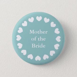 Badge Rond 5 Cm Mère turquoise du bouton de jeune mariée pour des
