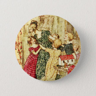 Badge Rond 5 Cm Mère victorienne et enfants