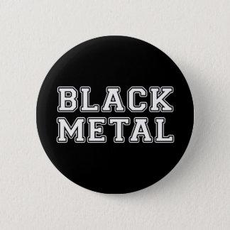 Badge Rond 5 Cm Métal noir