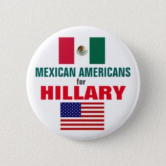 Badge Rond 5 Cm Mexico-Américains pour Hillary 2016