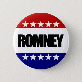 Badge Rond 5 Cm Mitt Romney - anti Obama 2012
