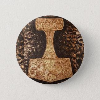 Badge Rond 5 Cm Mjolnir, le marteau du thor