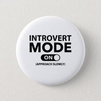 Badge Rond 5 Cm Mode introverti dessus