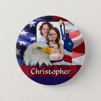 Badge Rond 5 Cm Modèle photo américain patriotique d'icône
