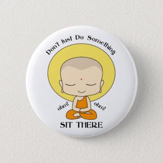 Badge Rond 5 Cm Moine bouddhiste de yoga de méditation