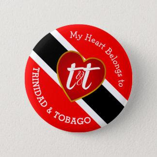 Badge Rond 5 Cm Mon coeur appartient à T&T