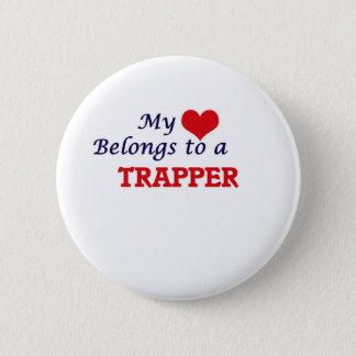 Badge Rond 5 Cm Mon coeur appartient à un trappeur