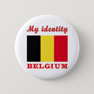 Badge Rond 5 Cm Mon identité Belgique
