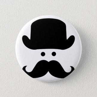 Badge Rond 5 Cm Monsieur Moustache