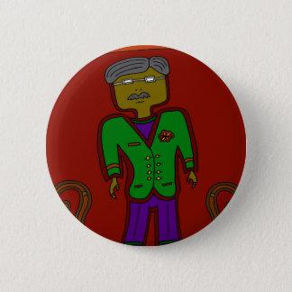 Badge Rond 5 Cm Monsieur Sophisticate