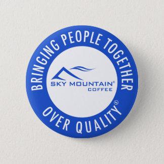 Badge Rond 5 Cm Montagne de ciel réunissant des personnes