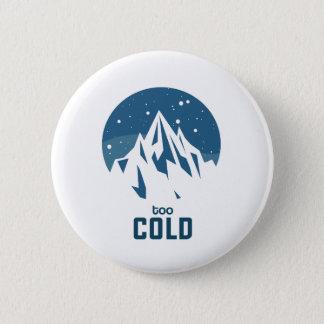 Badge Rond 5 Cm Montagne très froide avec le bouton de neige