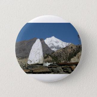 Badge Rond 5 Cm Montagnes au Népal