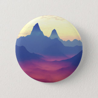 Badge Rond 5 Cm Montagnes d'un autre monde