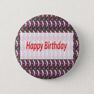 Badge Rond 5 Cm Motif de bijou de cadeaux de joyeux anniversaire