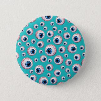 Badge Rond 5 Cm Motif de globe oculaire de turquoise