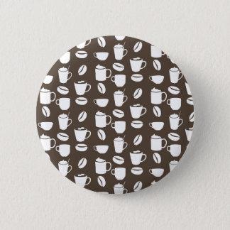 Badge Rond 5 Cm Motif de tasse de café