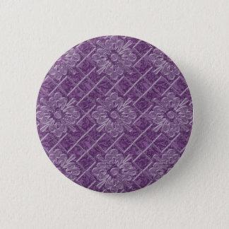 Badge Rond 5 Cm Motif lilas de jacquard