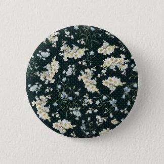 Badge Rond 5 Cm Motif vintage foncé de papier peint de fleur