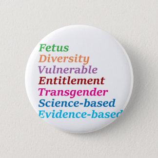 Badge Rond 5 Cm Mots à base scientifique et autres interdits