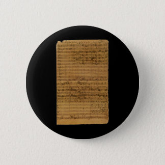 Badge Rond 5 Cm Musique de feuille vintage par Johann Sebastian