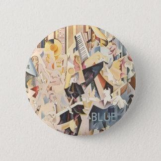 Badge Rond 5 Cm Musique vintage, jazz d'art déco, rhapsodie dans