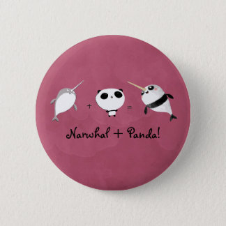 Badge Rond 5 Cm Narwhal plus le panda !