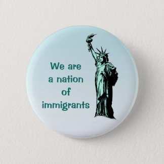 Badge Rond 5 Cm Nation de bouton de bleu d'immigrés