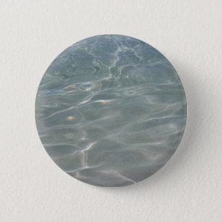 Badge Rond 5 Cm Nature des Caraïbes de bleu d'abrégé sur l'eau