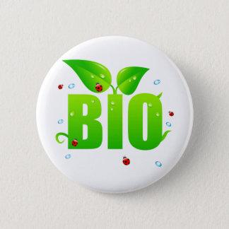 Badge Rond 5 Cm Naturel organique biologique vert