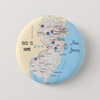 Badge Rond 5 Cm New Jersey