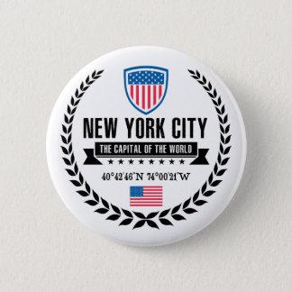 Badge Rond 5 Cm New York