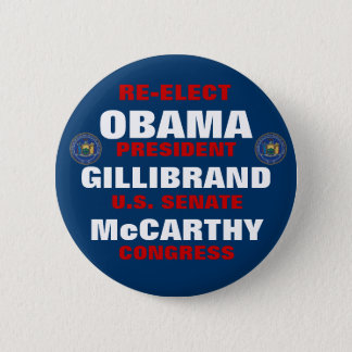 Badge Rond 5 Cm New York pour Obama Gillibrand McCarthy