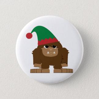 Badge Rond 5 Cm Noël mignon Elf de Sasquatch